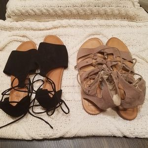 Dolce Vita and Universal Thread Gladiator Sandals
